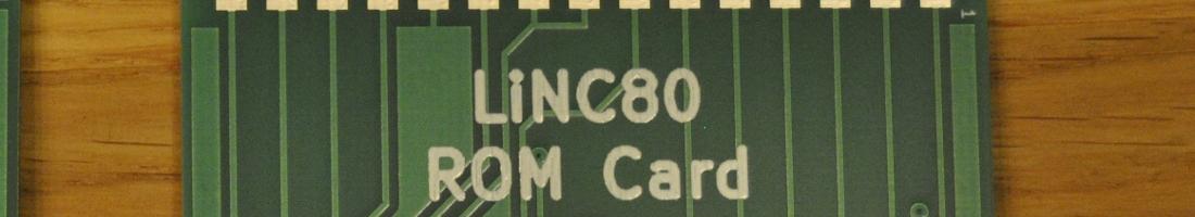 LiNC80 ROM Cartridge PCB